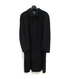 ランバン LANVIN CLASSIQUE カシミヤ100% コート ステンカラー ミディアム丈 ブラック 黒 46R 0427