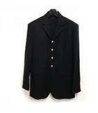 エルメス HERMES 国内正規  4B ウール テーラードジャケット ブレザー 銀ボタン サイドベンツ 黒 ブラック 50 ECR6 0607