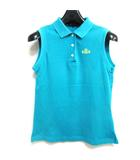 ポロシャツ ノースリーブ 鹿の子 ゴルフウェア ブルーグリーン 0 1009