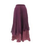 サンライン Sanline スカート ロング ダンス チュール フレア ラインストーン 紫 パープル ボルドー L 190227T