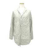キャピタル kapital KIRO HIRATA シャツジャケット ショールカラー ストライプ リネン 白系 オフホワイト 0 190409T