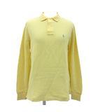 ラルフローレン RALPH LAUREN ポロシャツ 長袖 鹿の子 ポニー 刺繍 コットン 黄 イエロー L 190402T