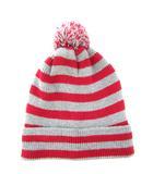 ベビーギャップ BABY GAP ジュニア ニット帽 帽子 ニットキャップ ボーダー 子供 グレー レッド M/L