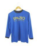 スパッツィオ Spazio Tシャツ カットソー プリント フットサル トップス 長袖 青 ブルー M