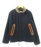 トロフィークロージング TROPHY CLOTHING N-1 デッキジャケット バイカー アウター 紺 ダークネイビー L