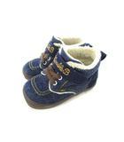 ミキハウス ダブルビー ダブルB MIKIHOUSE DOUBLE.B キッズ スニーカー ハイカット デニム 子供靴 ボア ブルー系 14.0cm