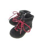 ミキハウス ダブルビー ダブルB MIKIHOUSE DOUBLE.B キッズ ショートブーツ 切替え 靴 シューズ 子供靴 黒 ブラック 14.0cm