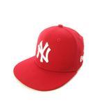 ニューエラ NEW ERA GENUINE MERCHANDISE キッズ キャップ 帽子 59FIFTY ベースボールキャップ レッド 赤 52cm