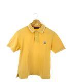モンクレール MONCLER 茶タグ ポロシャツ 半袖 トップス ロゴワッペン イエロー XS