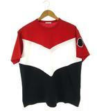 モンクレール MONCLER 19ss ビームス限定 ビッグトリコロール Tシャツ カットソー 半袖 トップス 赤 白 紺 M
