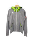 アディダス adidas サッカーフットサルスウェットフードSALジャケット パーカー 上着 ライトグレー M
