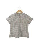 キャピタル kapital ボタンダウンシャツ チェック コットン トップス 白系 1