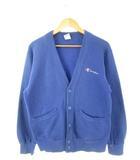 チャンピオン CHAMPION 90's USA製 スウェット カーディガン ボタン トップス 青 ブルー M
