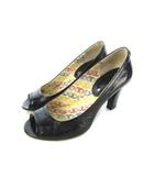 セリーヌ CELINE パンプス オープントゥ 靴 シューズ 黒 ブラック 36