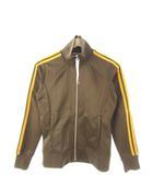 アディダス adidas トラックジャケット ジャージ ジップアップ 上着 ブラウン M