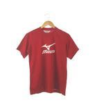 ミズノ MIZUNO Tシャツ カットソー スポーツウェア プリント トップス 赤 白 S