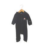 チャンピオン CHAMPION ロンパース コーデュロイ ジップアップ ワンポイント 黒 ブラック 70 ベビー 子供服
