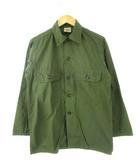 GUARANTEED TROOPER FATIGUES 60's ユーティリティーシャツ ヴィンテージ ミリタリー ARMY オリーブ S