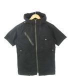 アヴィレックス AVIREX スカウティングシャツ フード付き ミリタリー 半袖 トップス 黒 ブラック M