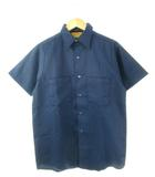 ビッグヤンク BIG YANK 70's ワークシャツ UNION MADE ヴィンテージ 半袖 トップス 紺 ネイビー S