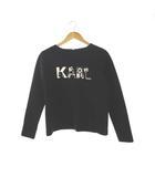リミテッドエディション LIMITED EDITION KARLLAGERFELD Tシャツ カットソー プリント トップス 黒 白 38