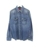 リーバイス Levi's タイプ1ジーンズ デニムシャツ ダメージ加工 ブルー L