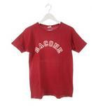 チャンピオン CHAMPION 70's バータグ プリントTシャツ BACONE 半袖 赤 レッド M