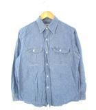 シュガーケーン SUGAR CANE シャンブレーシャツ ワークシャツ トップス ブルー M