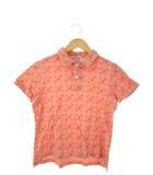 エヴィス EVISU ポロシャツ 半袖 カットソー トップス 総柄 ピンク 1