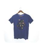 ワスク WASK Tシャツ カットソー プリント トップス 青 ブルー 160 ジュニア 子供服