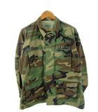 90's US ARMY 米軍実物 BDU コンバットジャケット EA INDUSTRIES ワッペン付き ウッドランドカモ 迷彩 M-S