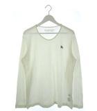 バーバリーブラックレーベル BURBERRY BLACK LABEL Tシャツ 長袖 カットソー トップス ロゴ 刺繍 オフホワイト 3