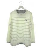 バーバリーブラックレーベル BURBERRY BLACK LABEL Tシャツ 長袖 カットソートップス ロンT 刺繍 オフホワイト 3