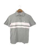 バーバリーブラックレーベル BURBERRY BLACK LABEL ポロシャツ 半袖 トップス ロゴ グレー 2