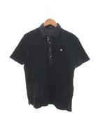 バーバリーブラックレーベル BURBERRY BLACK LABEL ポロシャツ 半袖 トップス ロゴ 黒 ブラック 3