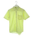 タウンクラフト TOWNCRAFT 60's ヴィンテージ ボタンダウンシャツ チェック 半袖 イエロー 16