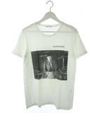 ラッドミュージシャン LAD MUSICIAN Tシャツ 半袖 カットソー トップス EXDRUMMER プリント 白 ホワイト 44