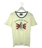 ラウンジリザード LOUNGE LIZARD Tシャツ 半袖 カットソー トップス アイボリー グリーン 2