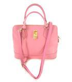 サマンサタバサ Samantha Thavasa 2wayバッグ ショルダーバッグ トートバッグ 鞄 南京錠 ピンク