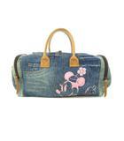 ディズニー Disney ハンドバッグ ミニボストン 鞄 デニム ミニー ブルー系