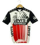 リーバイス Levi's ピナレロ PINARELLO 80's サイクルジャージ ハーフジップ シマノ プリント ヴィンテージ 半袖 M 自転車