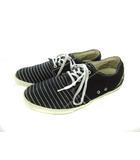 インディアン Indian スニーカー キャンバス 靴 ローカット ボーダー 黒 ブラック 26