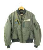 ヴィンテージ VINTAGE 50's USAF 米空軍 実物 MA-1 J-8279B フライトジャケット ワッペン 少佐階級章付き DOBBS INDUSTRIES INC セージグリーン L