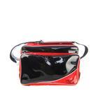 ミズノ MIZUNO セカンドバッグ 鞄 スポーツバッグ 2DB-1860 ショルダー エナメル 黒 赤