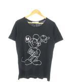 ユニクロ UNIQLO アンダーカバー UNDERCOVER Tシャツ 半袖 トップス ディズニー ミッキー プリント 黒 ブラック M