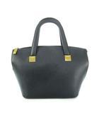 セリーヌ CELINE ハンドバッグ オールド 鞄 ゴールドプレート MC98/1 黒 ブラック