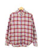 カトー KATO` ボタンダウンシャツ 長袖 チェック トップス ブラウン S