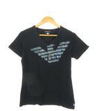 エンポリオアルマーニ EMPORIO ARMANI ×Daisuke Maki Tシャツ 半袖 カットソー トップス プリント ストレッチ 黒 ブラック M