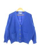 クリスチャンディオール Christian Dior SPORTS オールド ニット カーディガン 長袖  トップス 青 ブルー M