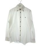 バーバリーブラックレーベル BURBERRY BLACK LABEL ボタンダウン シャツ 長袖 トップス ロゴ刺繍 白 ホワイト 3